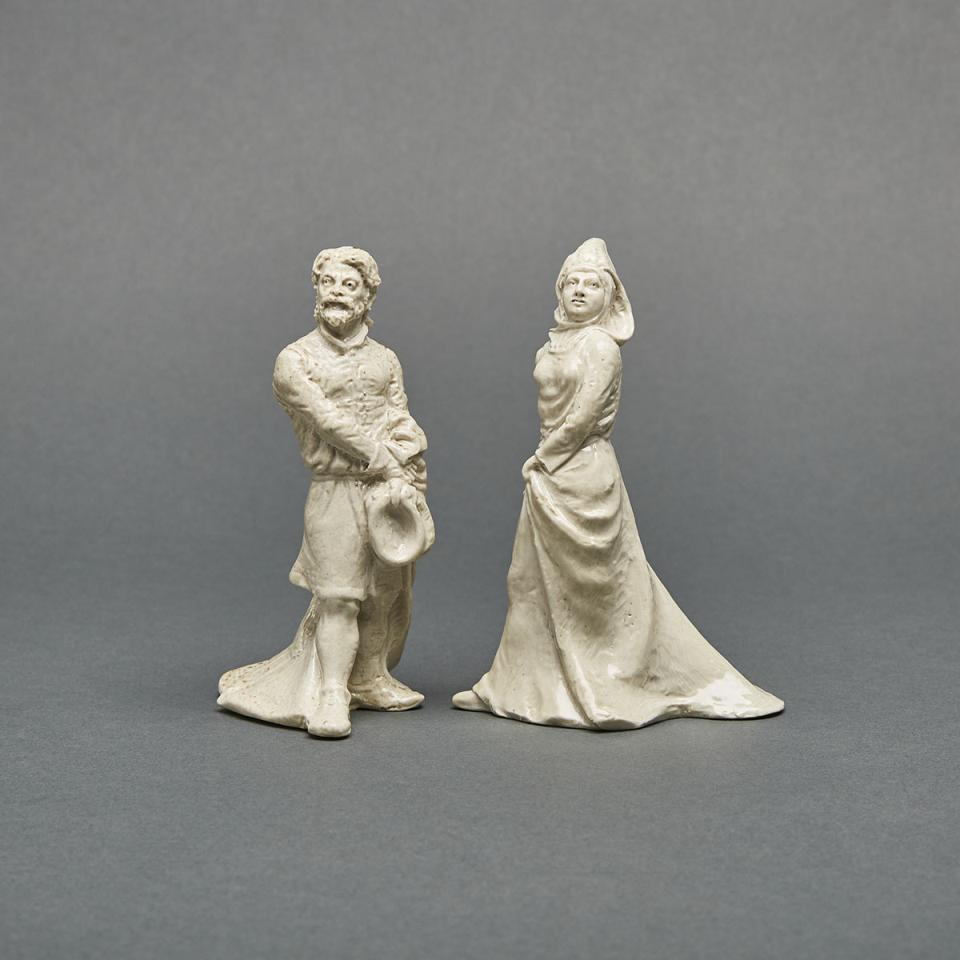 Pair of Martin Brothers Stoneware Figures, 1903