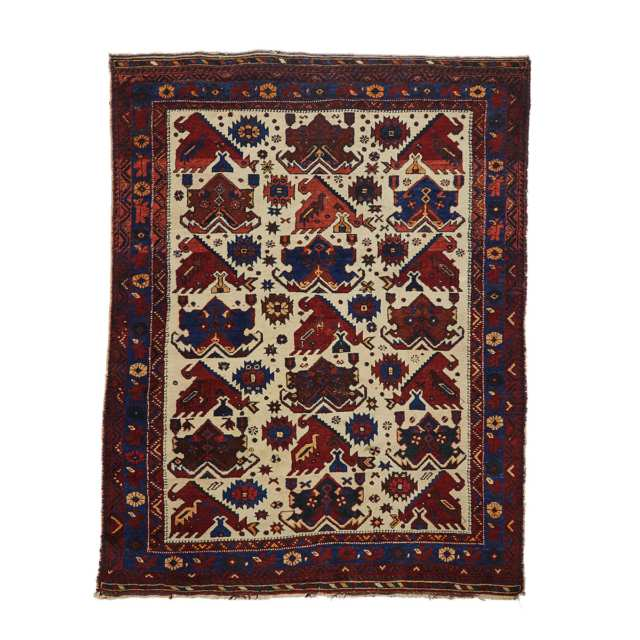 Afshar Rug, Persian, early 20th century