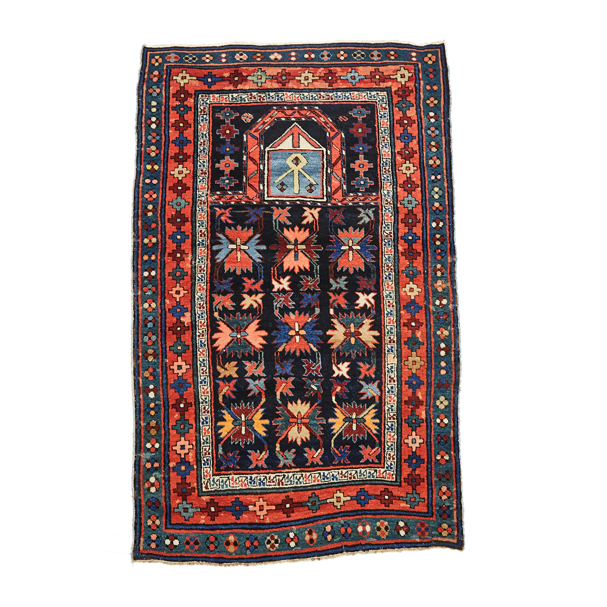 Kurdish Prayer Rug, mid to late 20th century