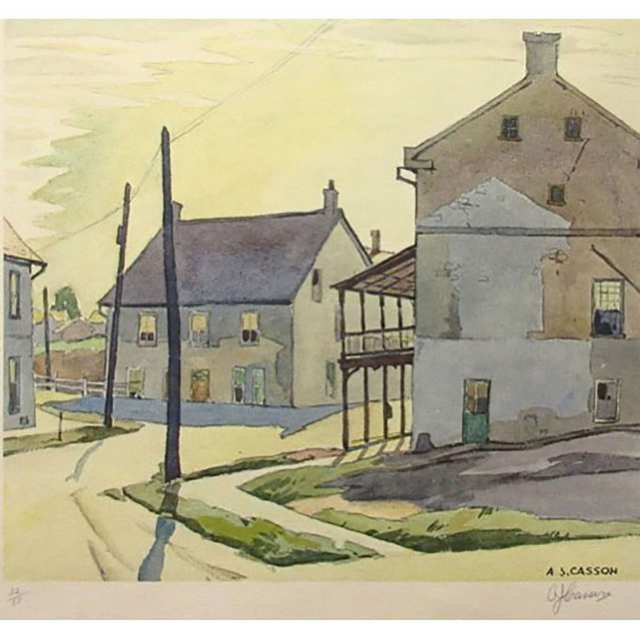 ALFRED JOSEPH CASSON (CANADIAN, 1898-1992)