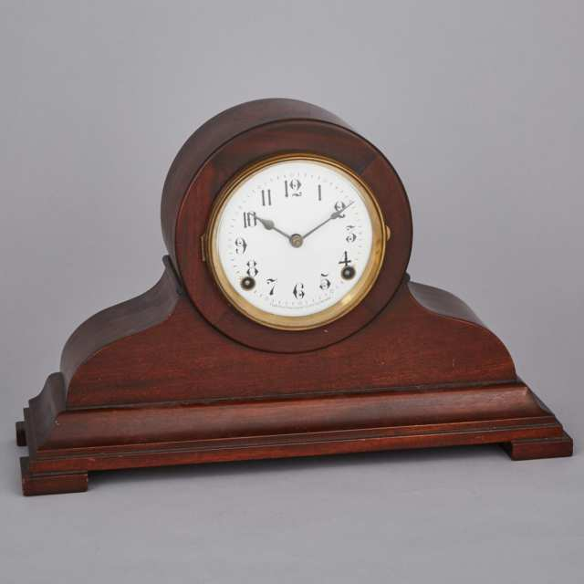 Arthur Pequegnat 'Sherbrooke' Model Mahogany Mantle Clock, early 20th century
