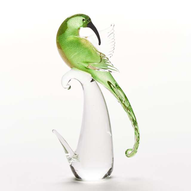 Murano Glass Bird of Paradise, mid-20th century