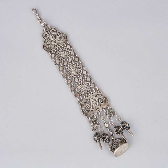 Norwegian Silver Watch Fob, David Andersen, Olso, early 20th century