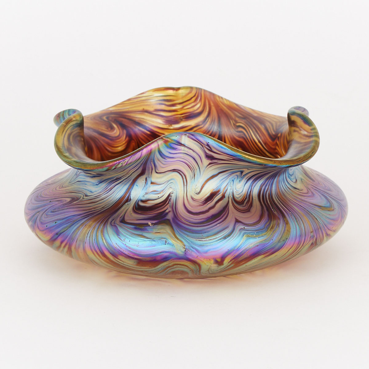 Austrian Iridescent Glass Vase, possibly Loetz, c.1900