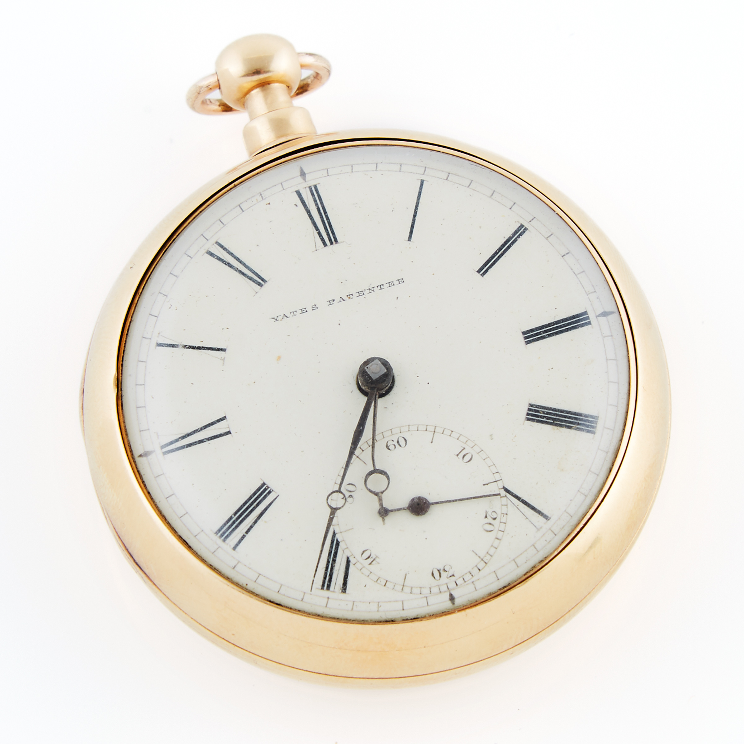 Thomas Yates, Preston Openface Key Wind Pocket Watch