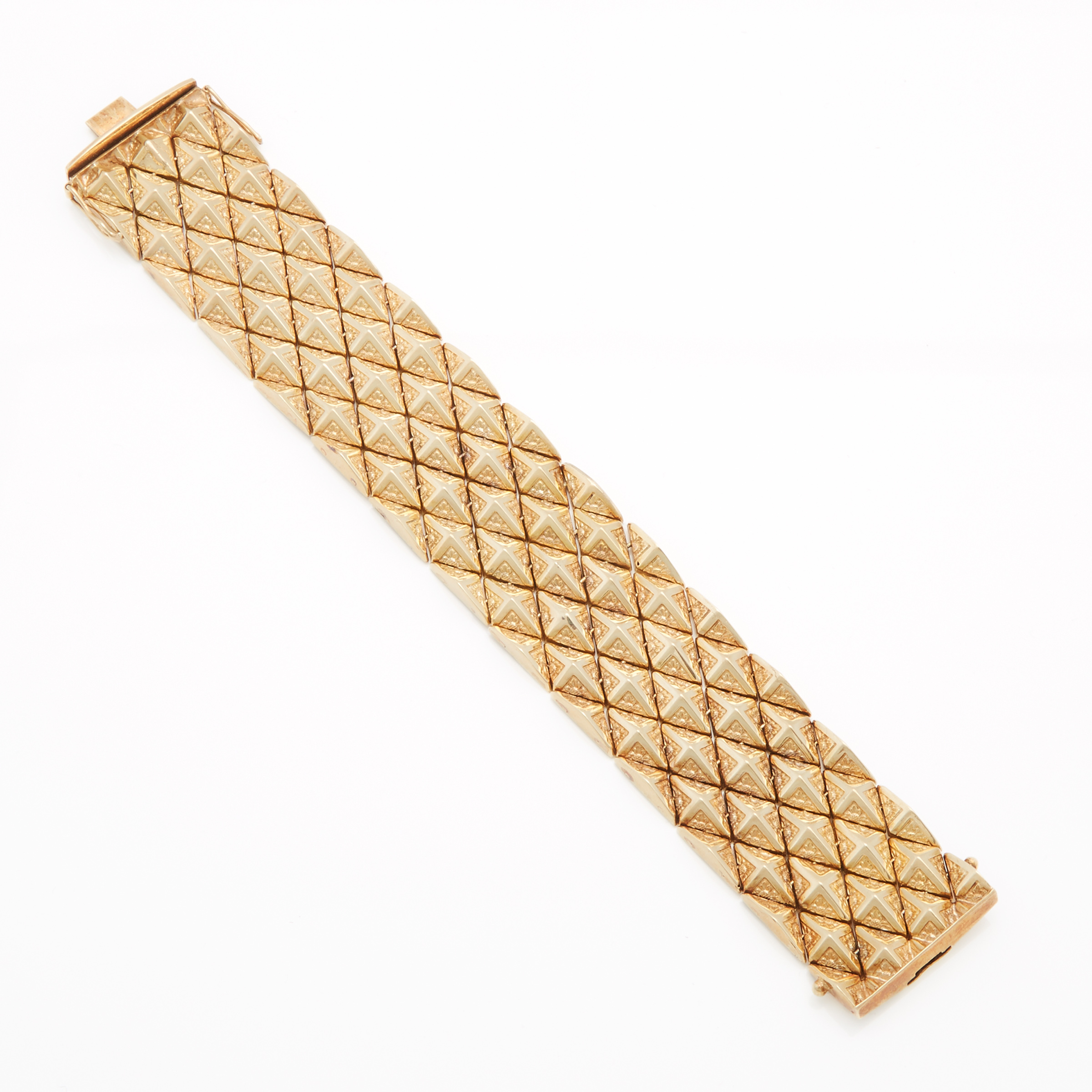 14k Yellow Gold Strap Bracelet