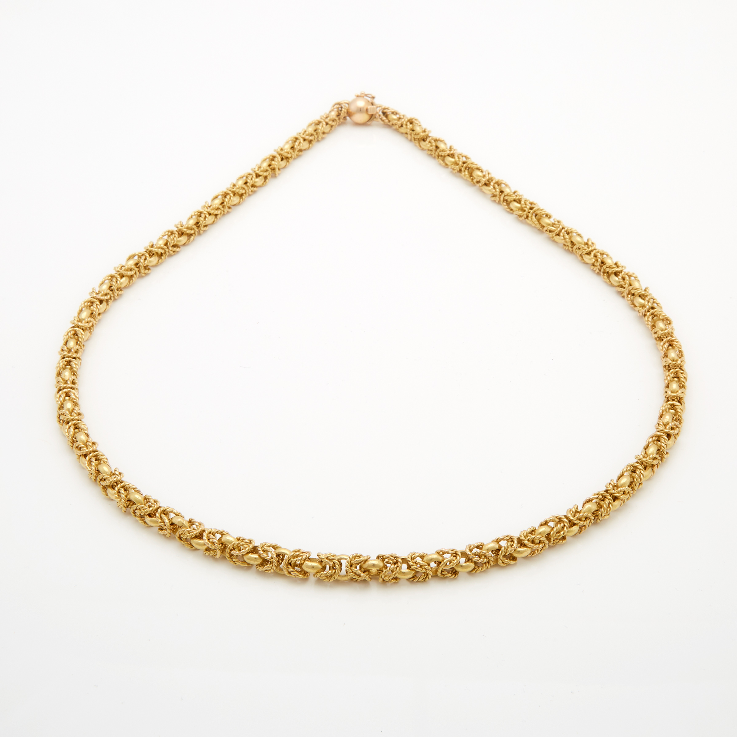 18k Yellow Gold Byzantine Link Chain