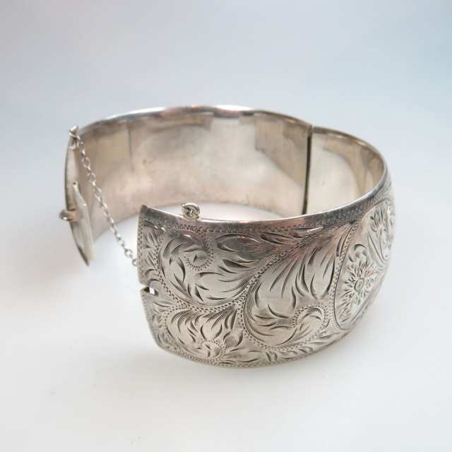 Birk's Sterling Silver Hinged Bangle