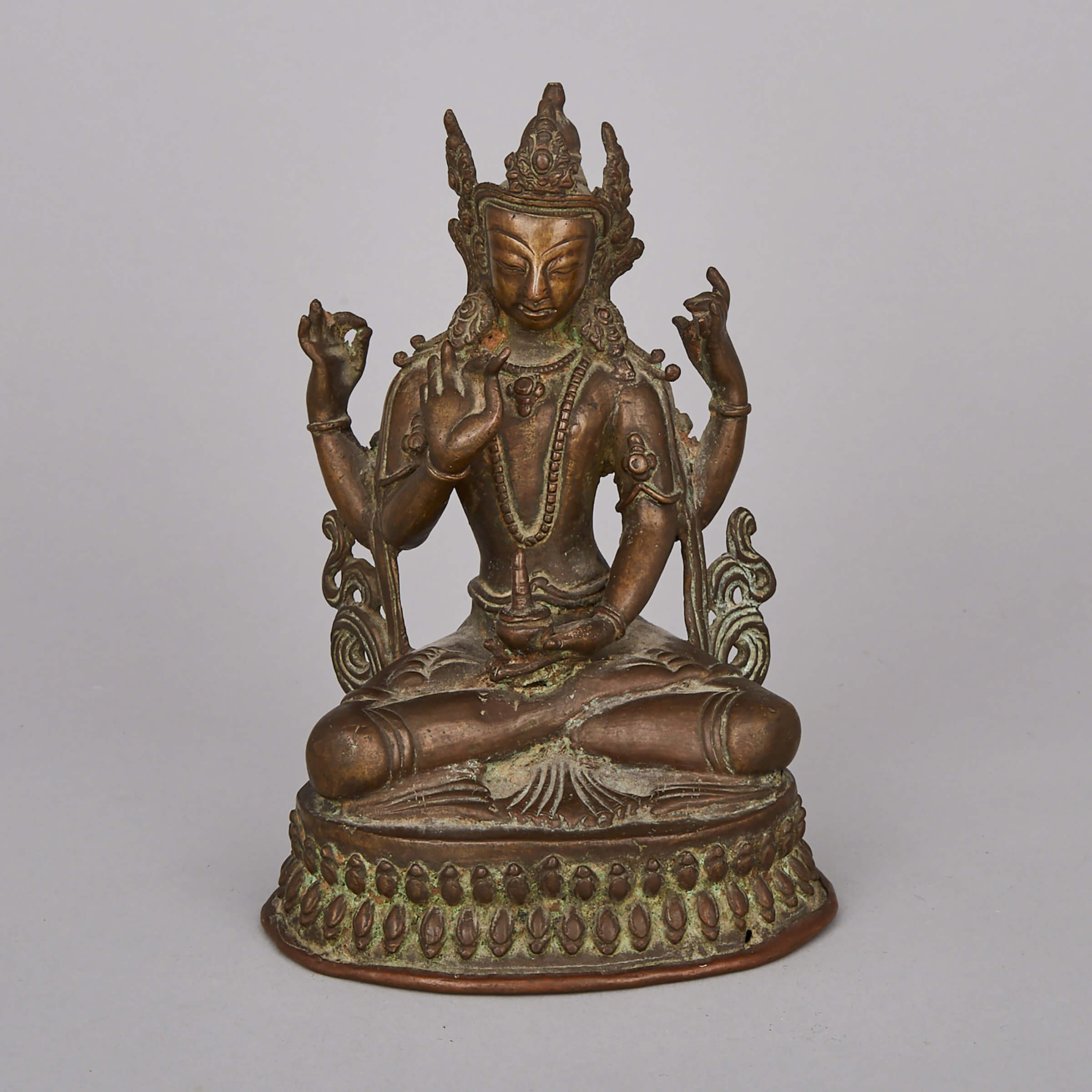 A Bronze Seated Figure of Vasudhara, Western Tibet, 18th Century or Earlier