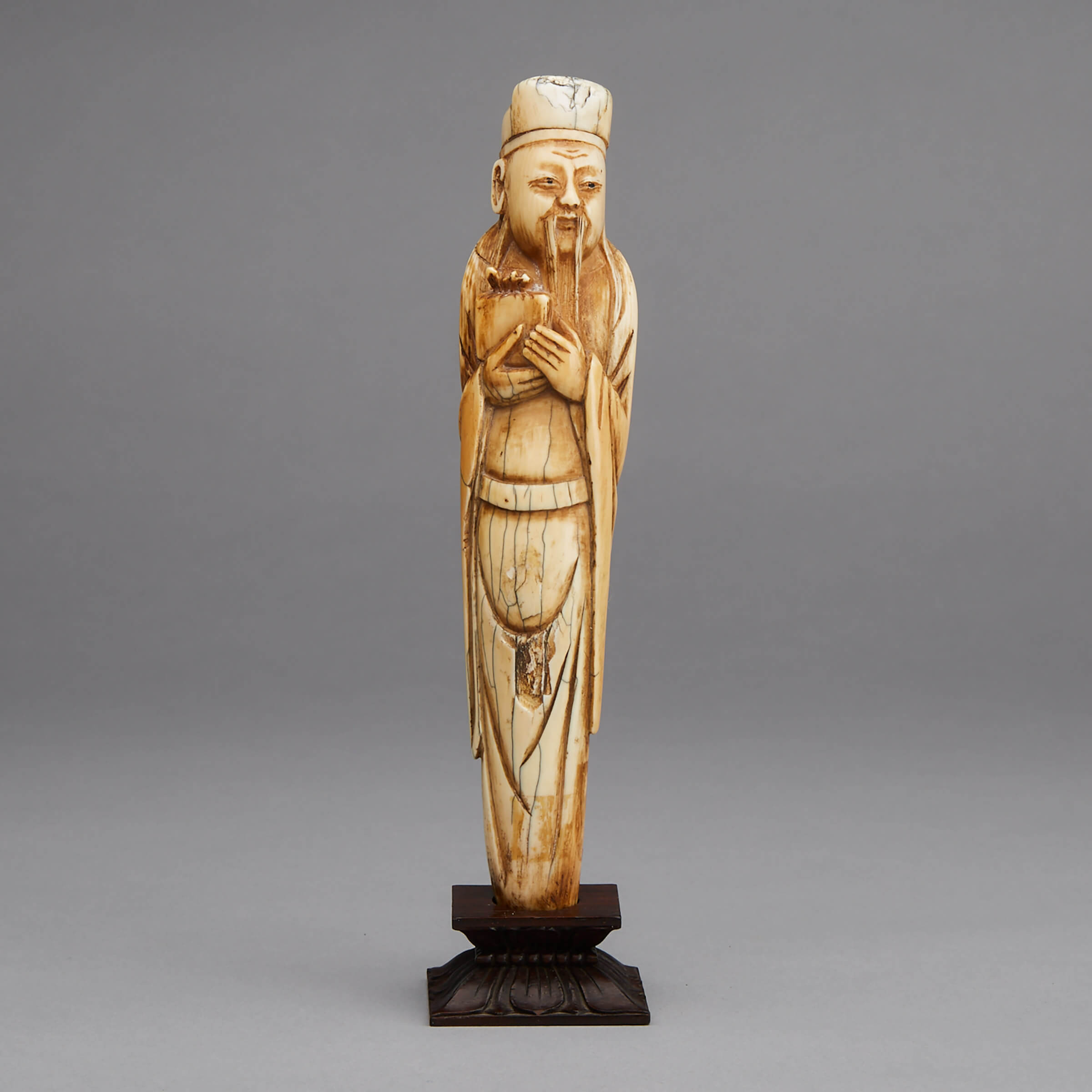 An Ivory Carved Figure of Guan Ping, 17th/18th Century