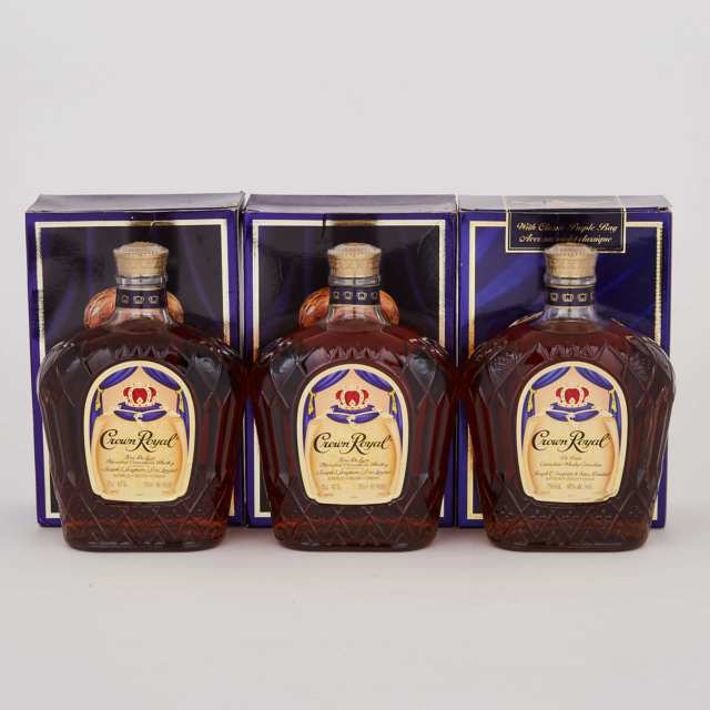 CROWN ROYAL CANADIAN WHISKY (NAS) (ONE 750 ML) CROWN ROYAL DELUXE CANADIAN WHISKEY (NAS) (ONE 750 ML) CROWN ROYAL DELUXE CANADIAN WHISKEY (NAS) (ONE 750 ML)
