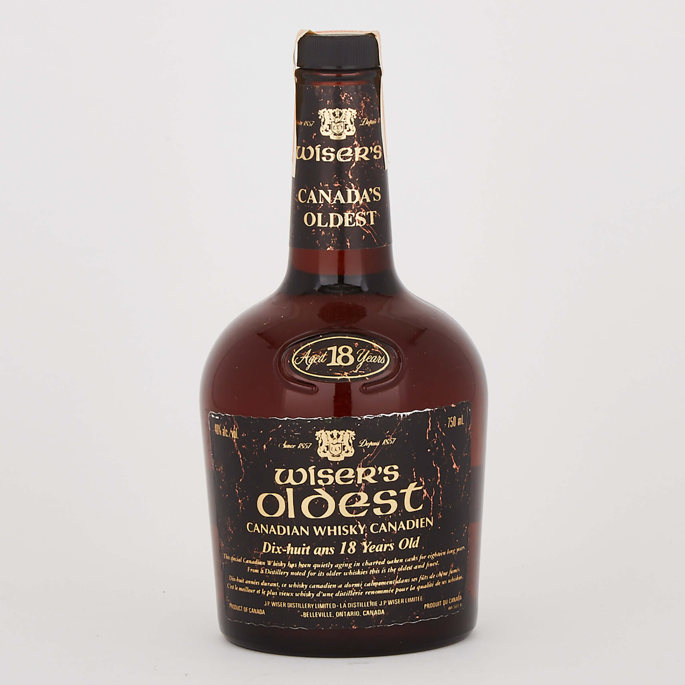 WISER'S OLDEST CANADIAN WHISKY 18 YEARS (ONE 750 ML)
