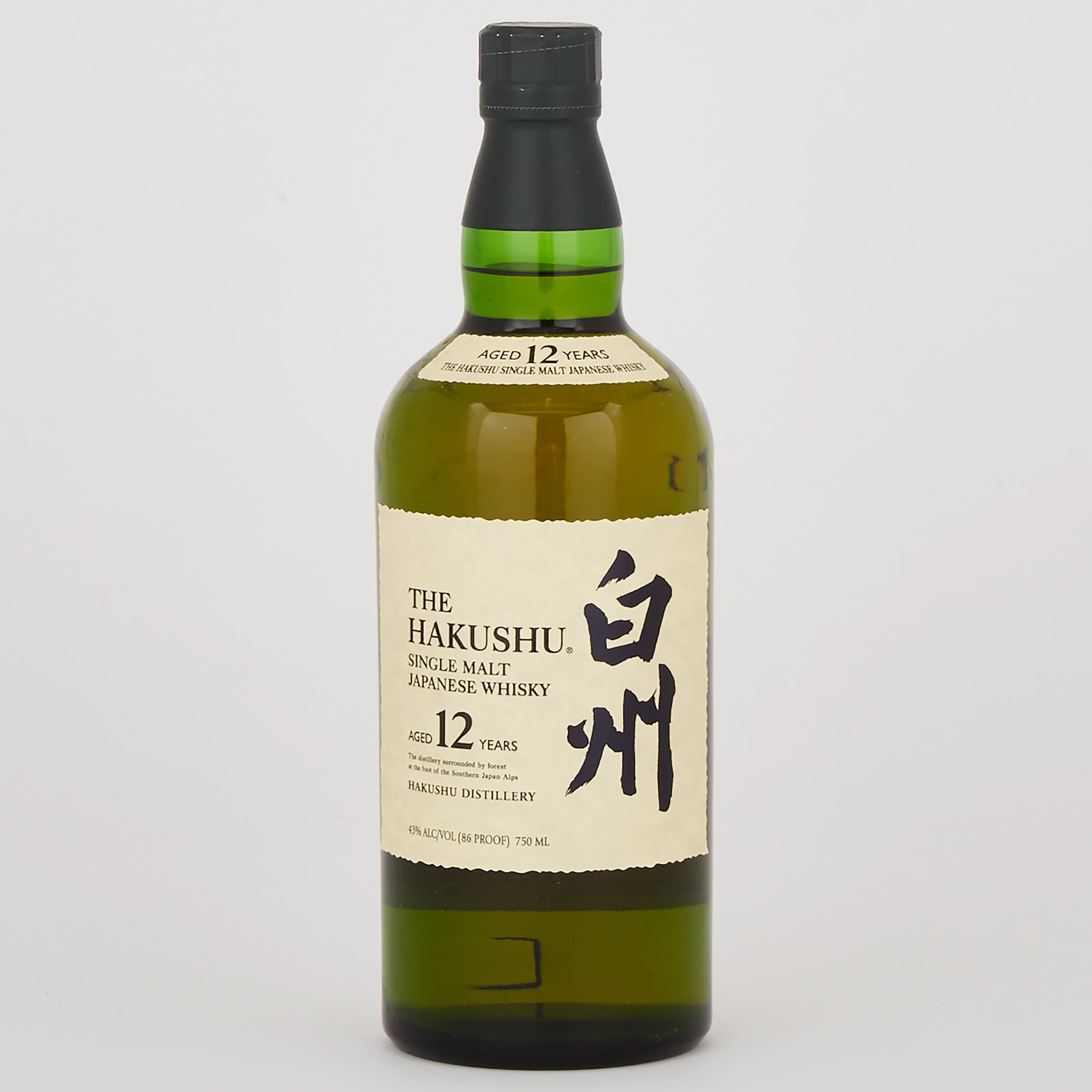 SUNTORY HAKUSHU 12 YEARS OLD SINGLE MALT WHISKY 12 YEARS (ONE 750 ML)