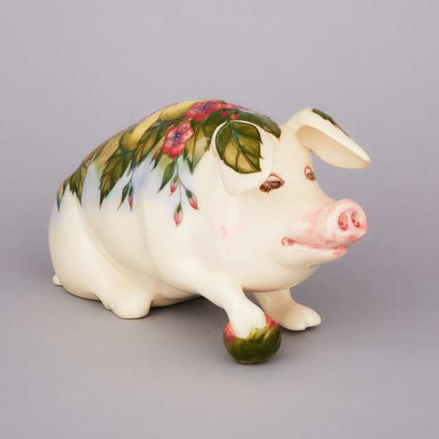 Moorcroft Model of 'Peter the Pig', 1990