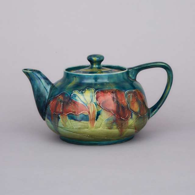 Macintyre Moorcroft Claremont Teapot, for Shreve & Co., c.1905-10
