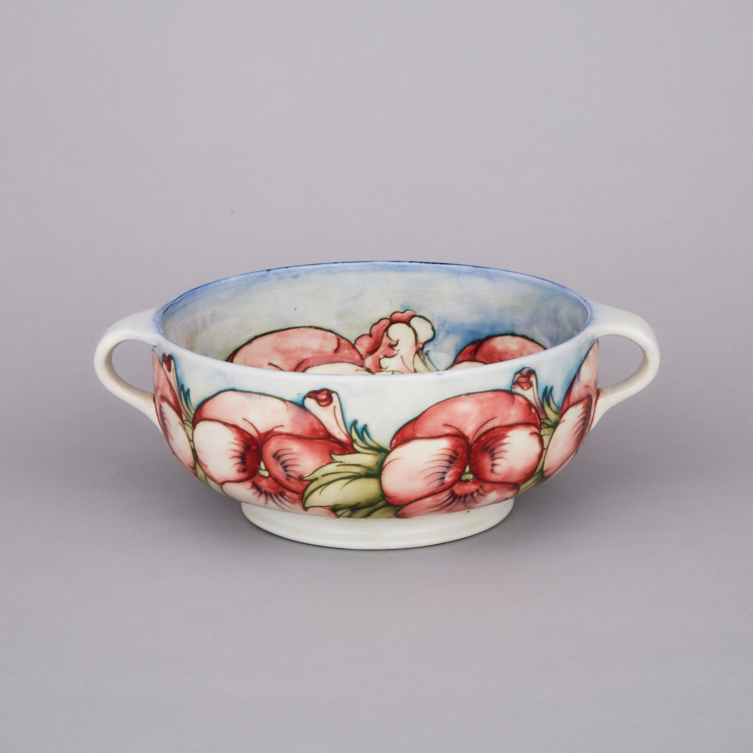 Moorcroft Two-Handled Pansy Bowl, c.1925-30