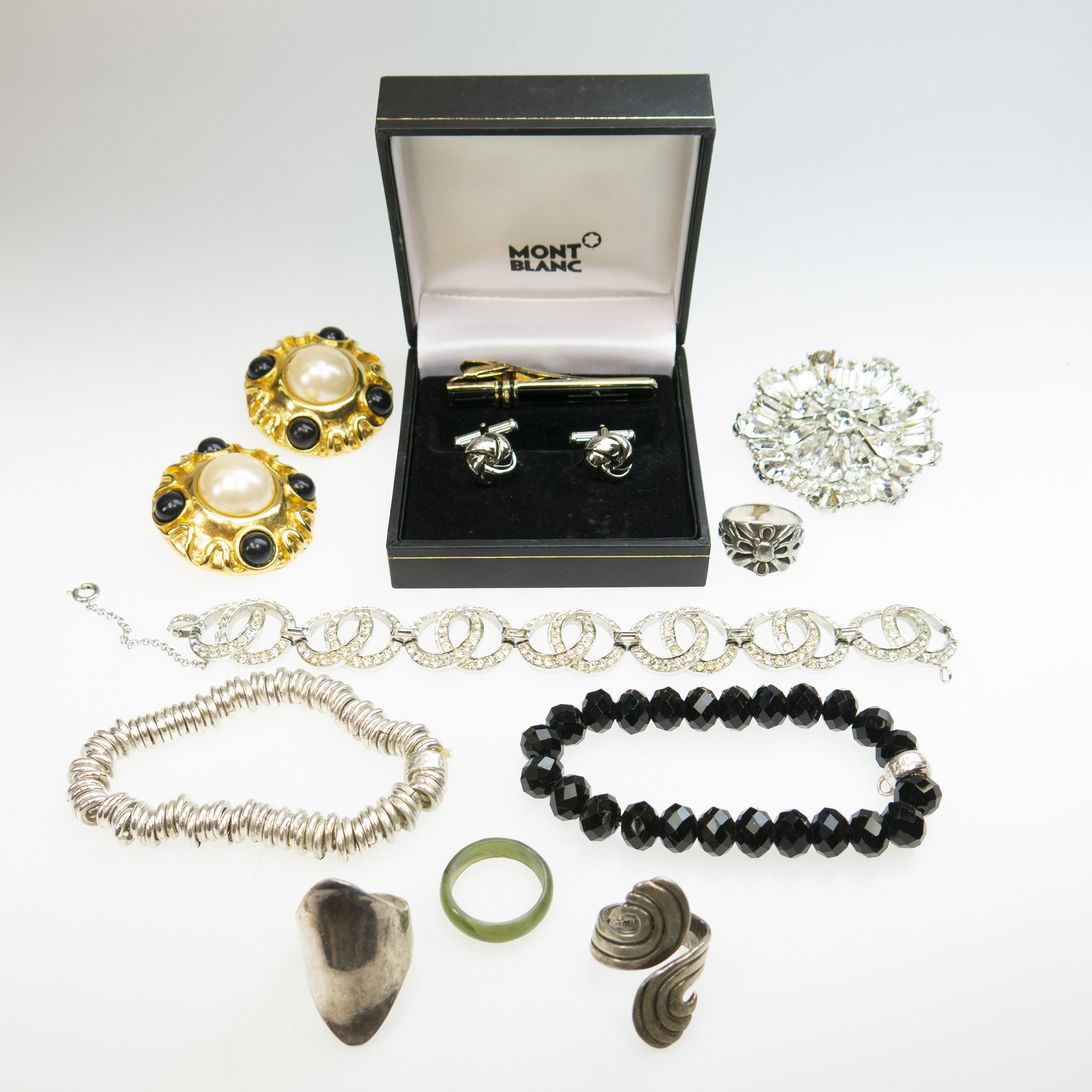 Small Quantity Of Silver And Costume Jewellery