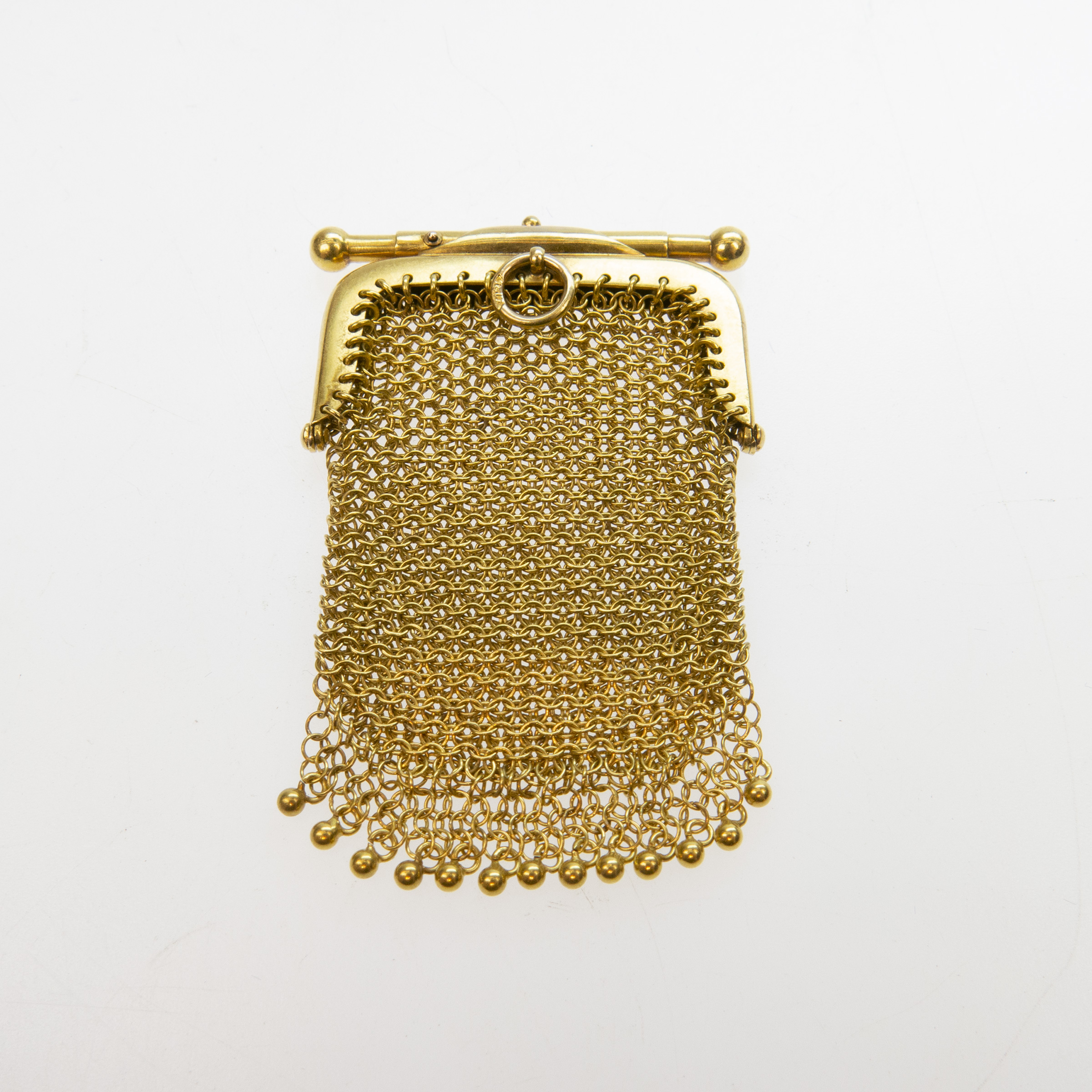 18k Yellow Gold Mesh Change Purse