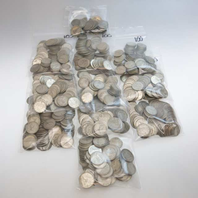 1020 Canadian Silver Dimes