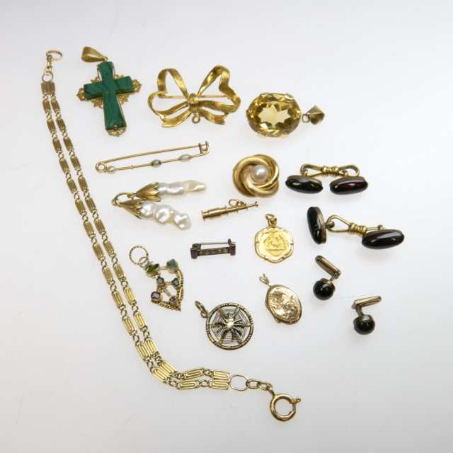 Small Quantity Of Gold Jewellery, Etc.
