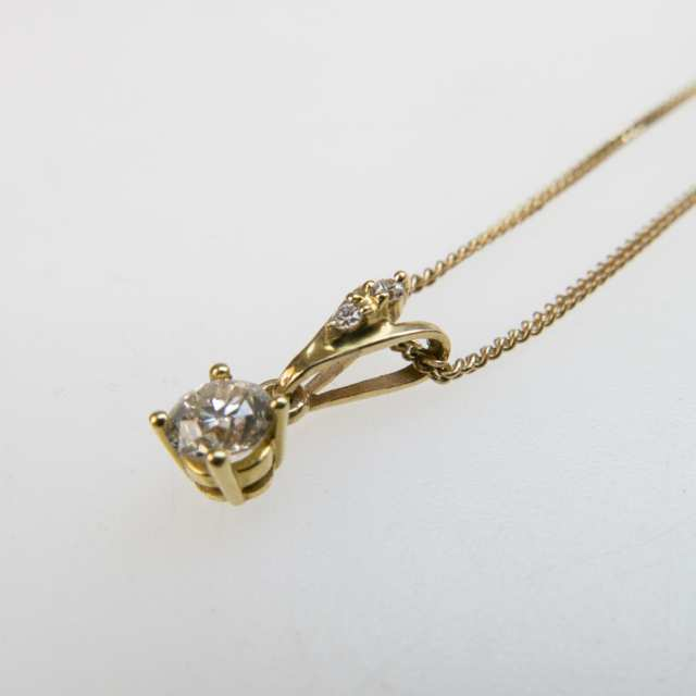 10k Yellow Gold Chain And Pendant
