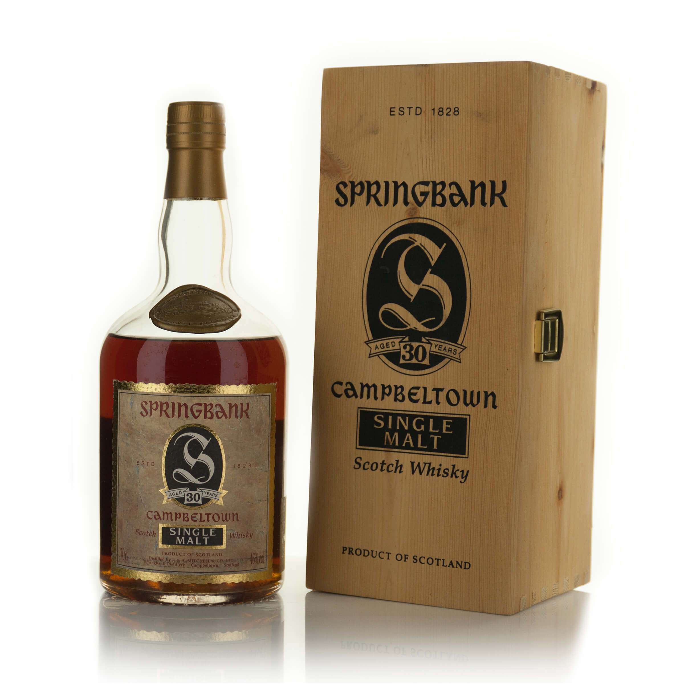SPRINGBANK SINGLE MALT  SCOTCH WHISKY 30 YEARS (ONE 70 CL)