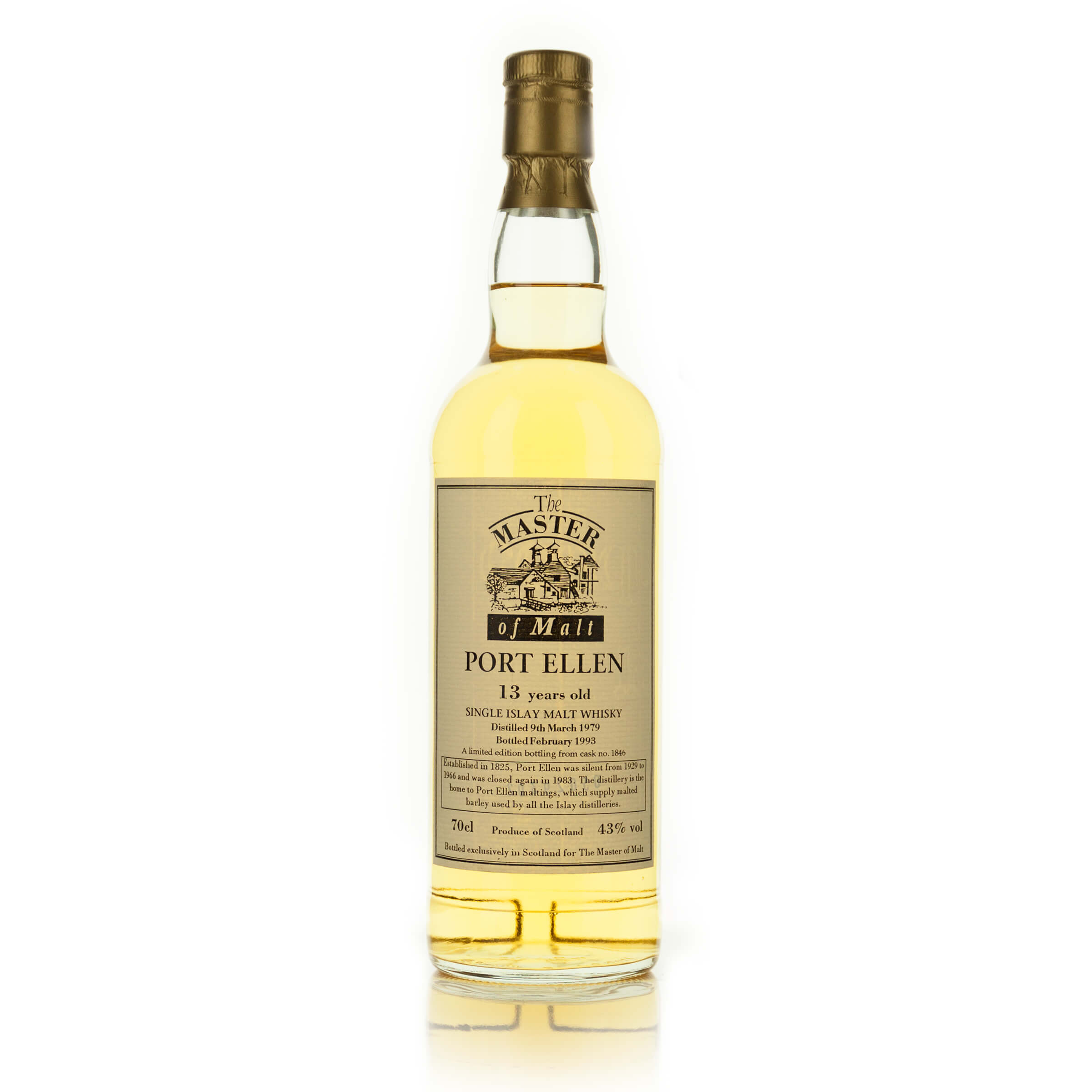 PORT ELLEN SINGLE ISLAY MALT SCOTCH WHISKY 13 YEARS (ONE 70 CL)