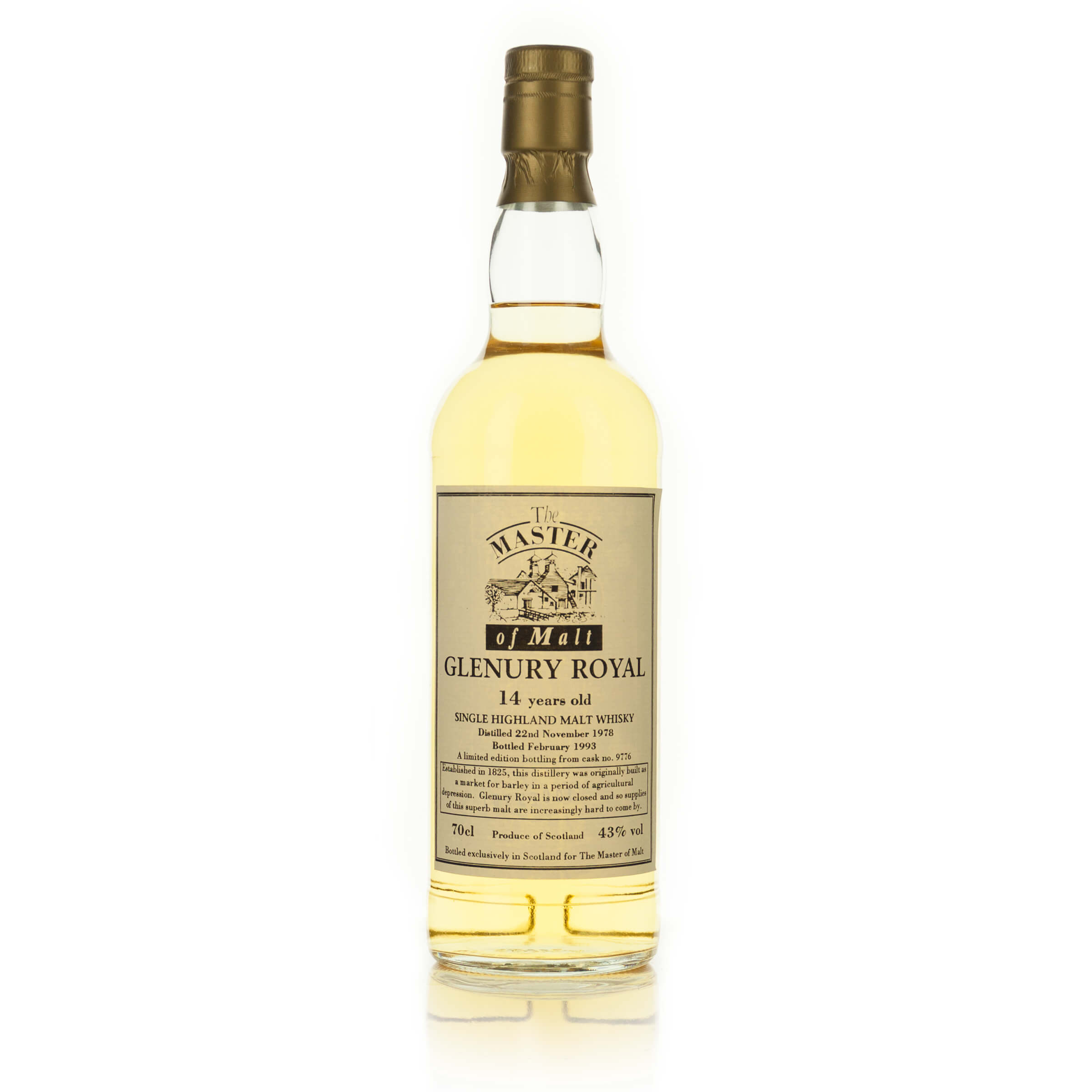 GLENURY ROYAL SINGLE MALT SCOTCH WHISKY 16 YEARS (ONE 750 ML)