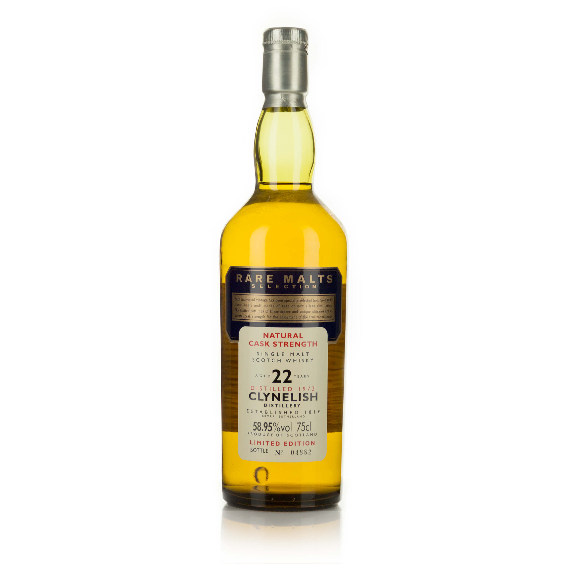 CLYNELISH SINGLE MALT SCOTCH WHISKY 22 YEARS (ONE 75 CL)