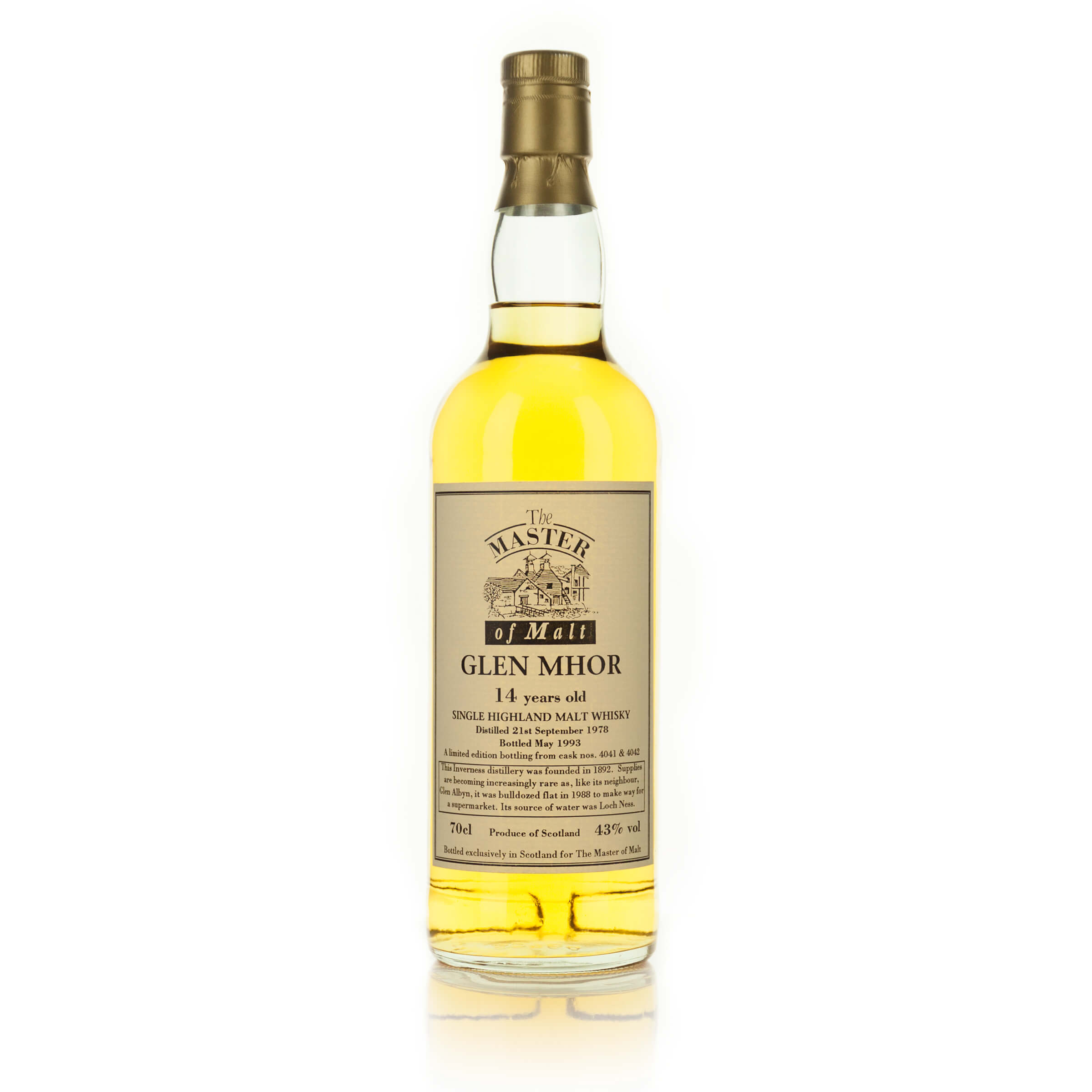 GLEN MHOR SINGLE HIGHLAND MALT WHISKY 14 YEARS (ONE 70 CL)