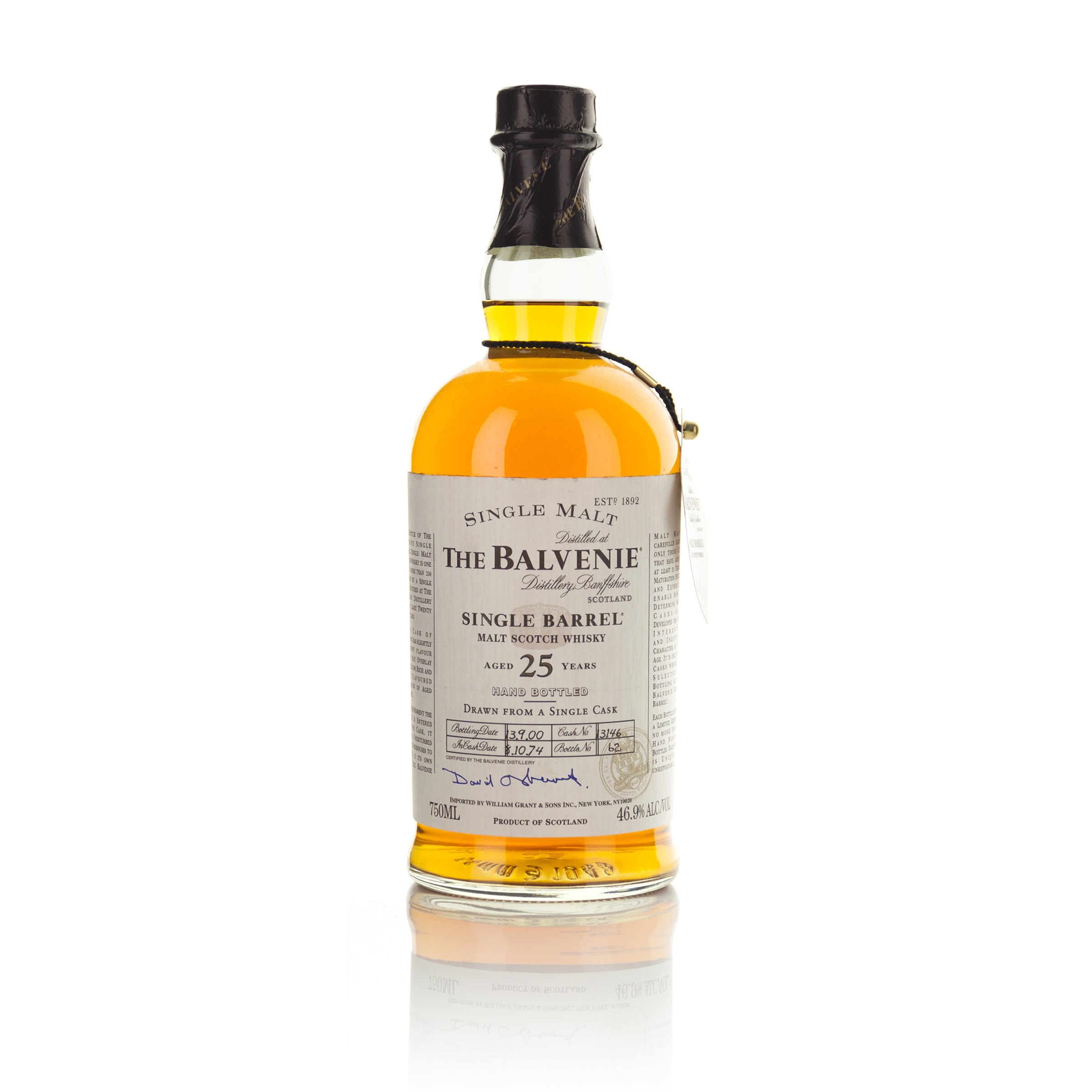 THE BALVENIE SINGLE BARREL MALT SCOTCH WHISKY 25 YEARS (ONE 750 ML)
