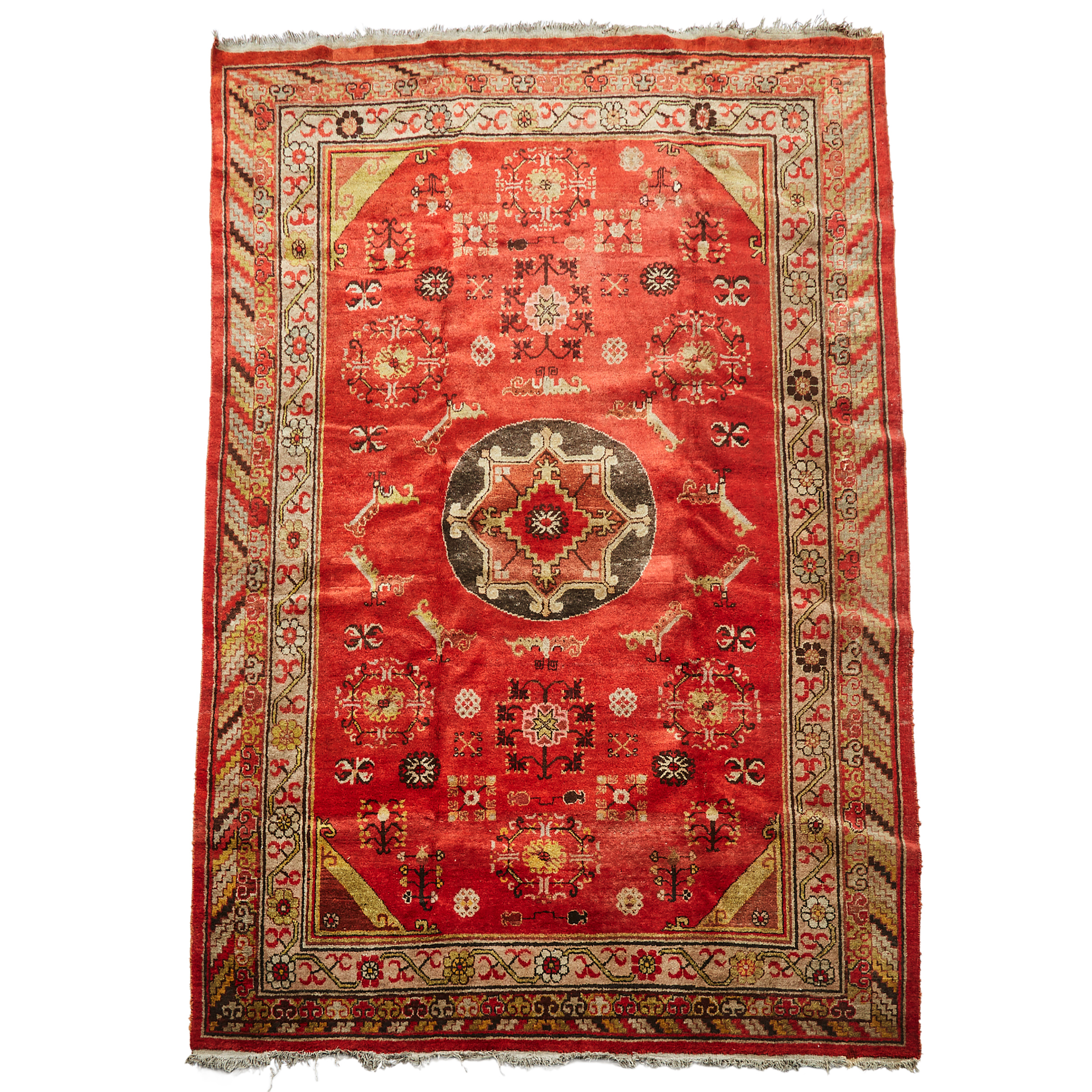 Yarkand Rug, Central Asia, early 20th century