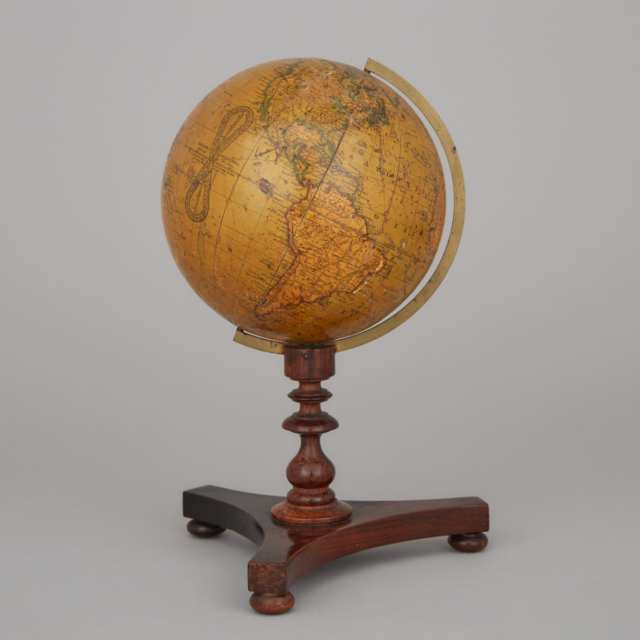 Newton's New and Improved Six Inch Terrestrial Globe, early 19th century
