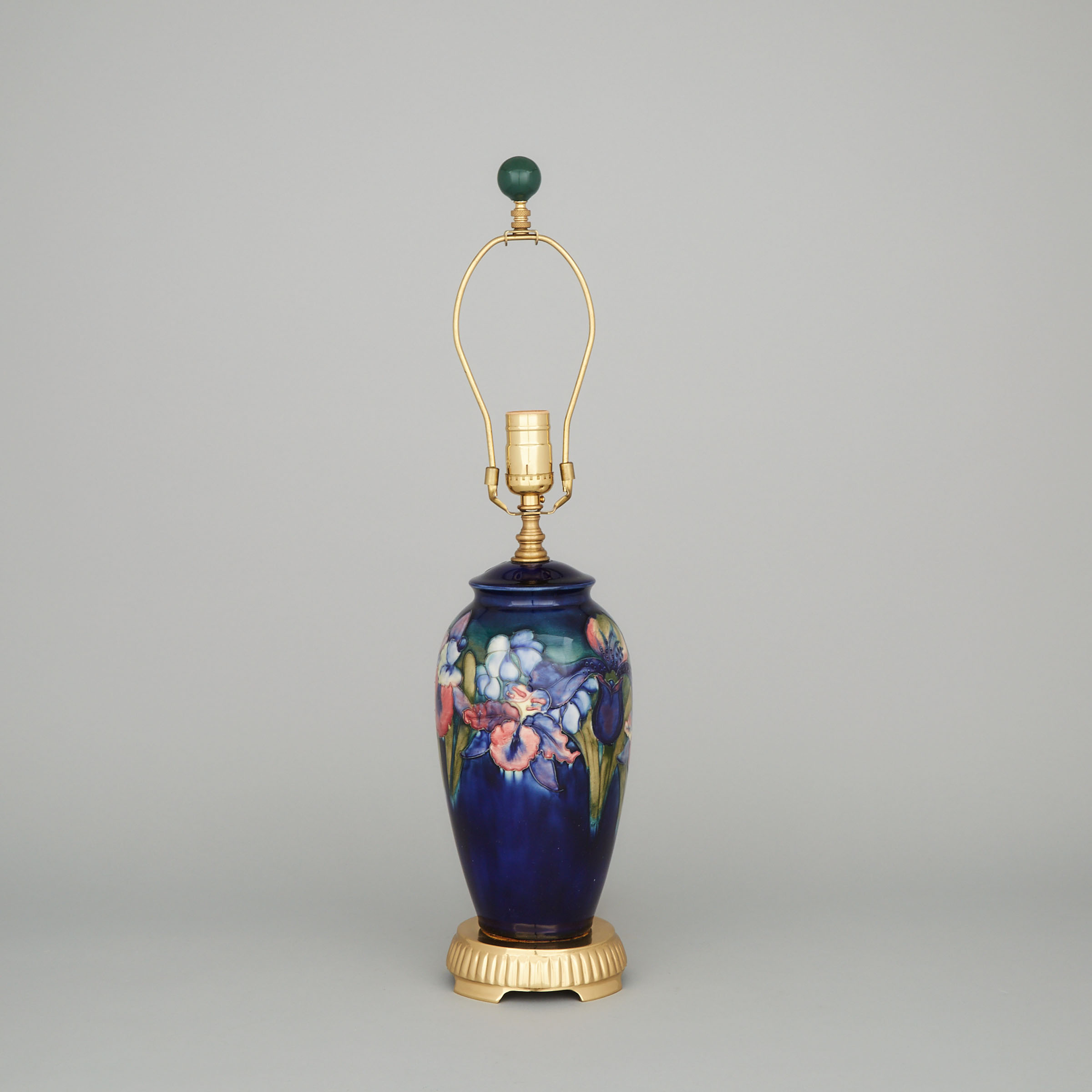Moorcroft Orchids Table Lamp, c.1960