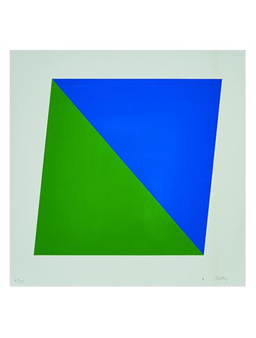 Prints & Photography Auction Highlight: Ellsworth Kelly's Blue/Green (EK70-336)