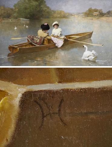 "Auction Highlight: Ferdinand Heilbuth's hitherto unidentified masterwork: ""Rowing on the Seine"""