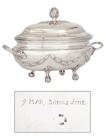 Laurent Amiot's Soup Tureen with the Arms of the Hertel de Rouville Family, c.1790
