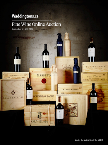 Waddington's Fine Wine Auction Sept. 2016