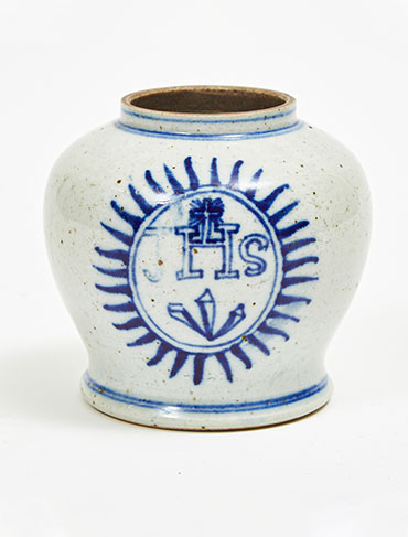 Blue-and-White Jesuit Baluster Vase