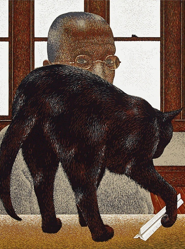 Alexander Colville's 'Black Cat'