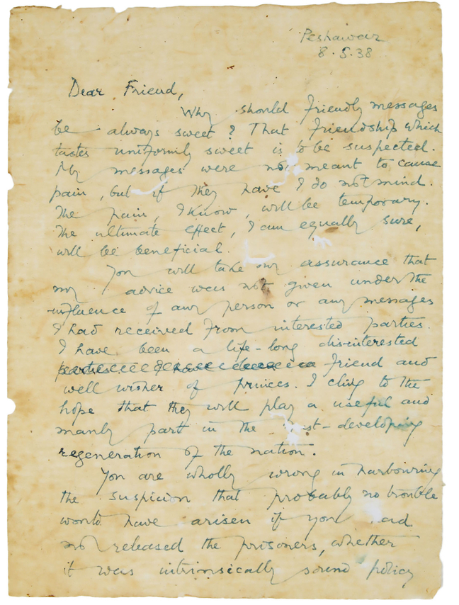 A Letter from Gandhi